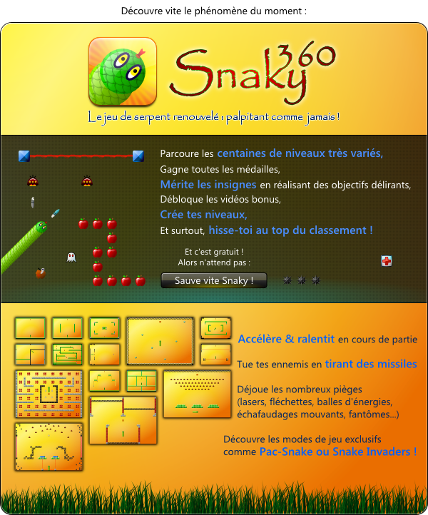 Mailing pour Snaky 360